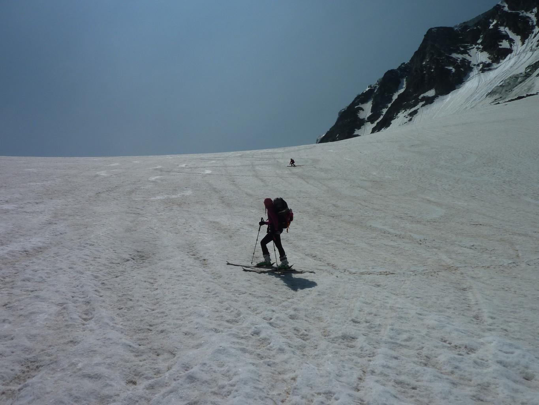 Glacier de Pièce, pas seuls