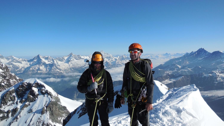 Corine et François au sommet