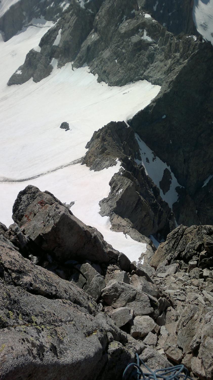 Arête sud vue du sommet