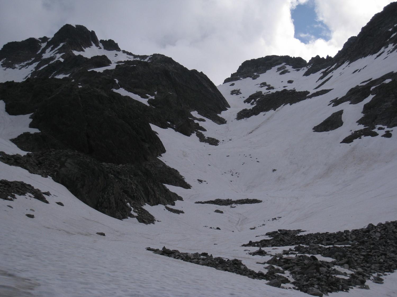 combe de la gde Valloire- vers la breche du Puy Gris -depuis lac Glacé (2450m)