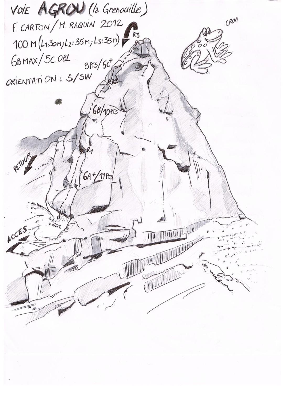 Voie Agrou, dessin Pierre Carton