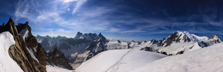 Panoramique depuis le rognon du plan