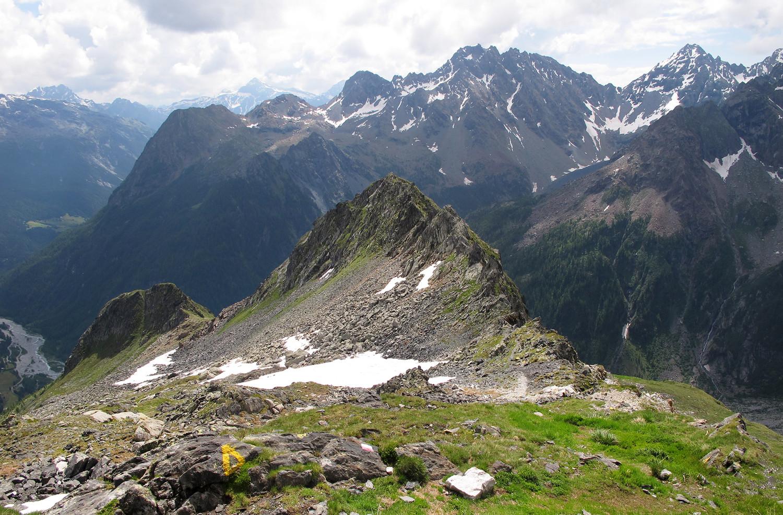 Mottuccio: la vetta vista dal Del Grande-Camerini.