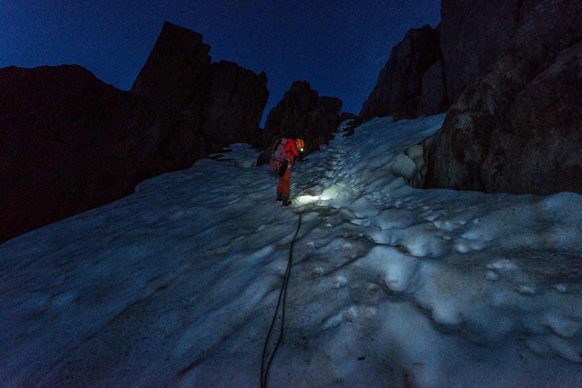 Un petit rappel pas franchement utile pour descendre sur le glacier de Trélaporte.