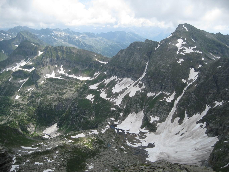 Conca alpe Cramec dalla vetta