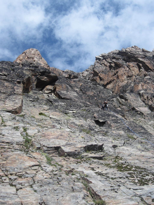 Jegihorn arête Sud - 1ère longueur