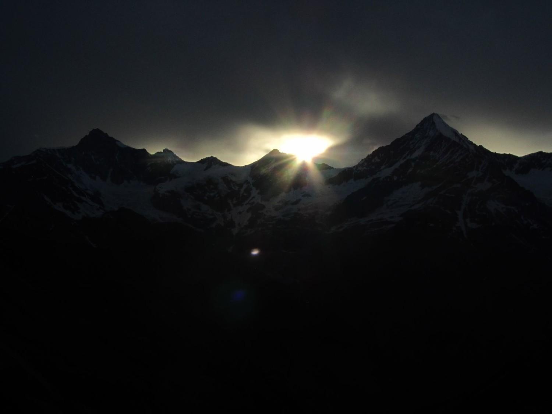 Jeux de lumière à la Taschhütte