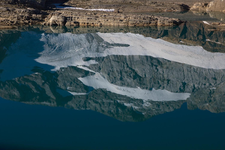 Lac Glacé, reflet du mont Perdu depuis le lac Glacé