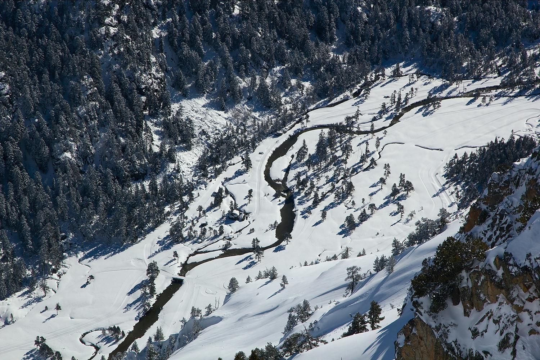 Vallée du Marcadau vue du ciel