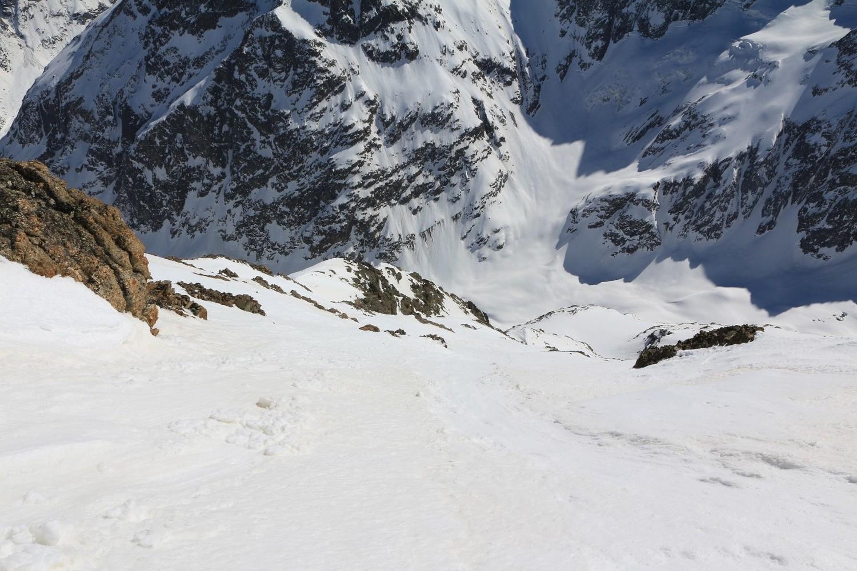 Départ pour 1350 mètres de descente !