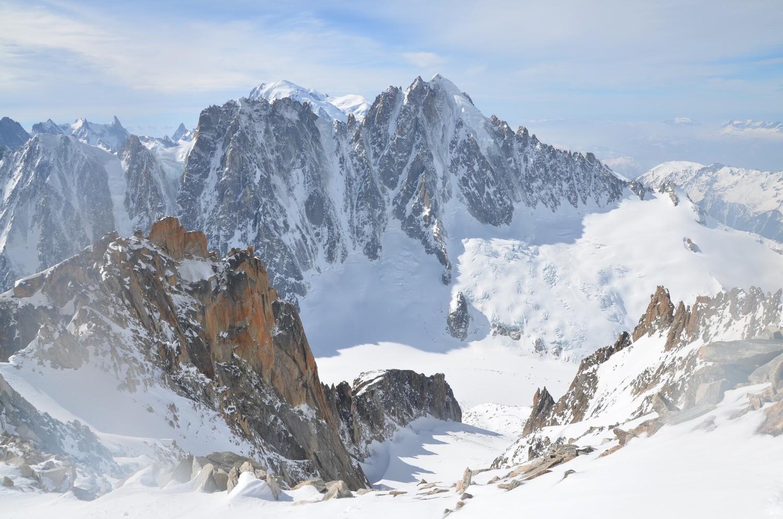 Glacier du Milieu, les Droites, la Verte