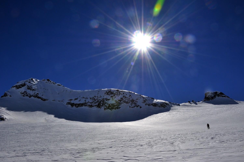 Glacier de Scalino (poschiavo). Le Cancian est à G