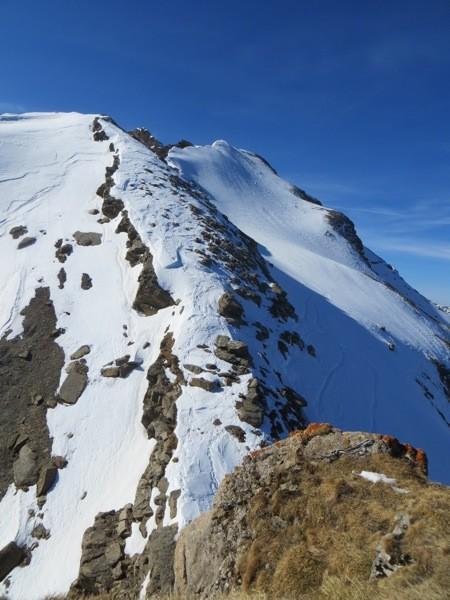 la se trouve les spits pour u rappel afin de rejoindre l'arête du Mt PréFleuri