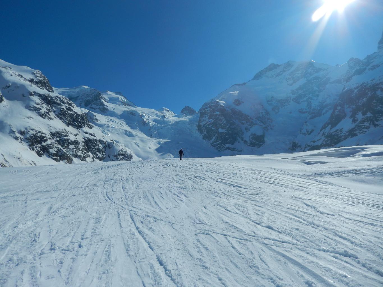 Piz Bernina: la cima sulla dx