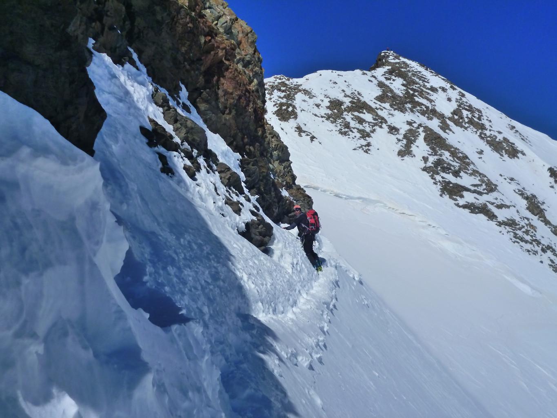Piz Bernina: verso la cima