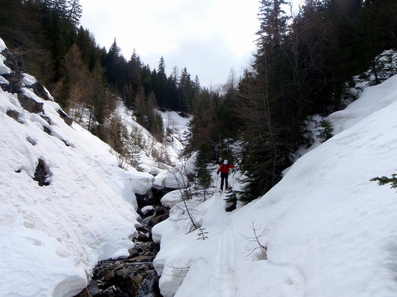 Le bas du Ravin moins skiant...