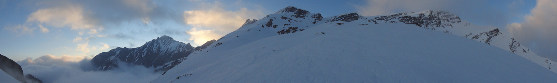 Panorama du Col Pt 2074