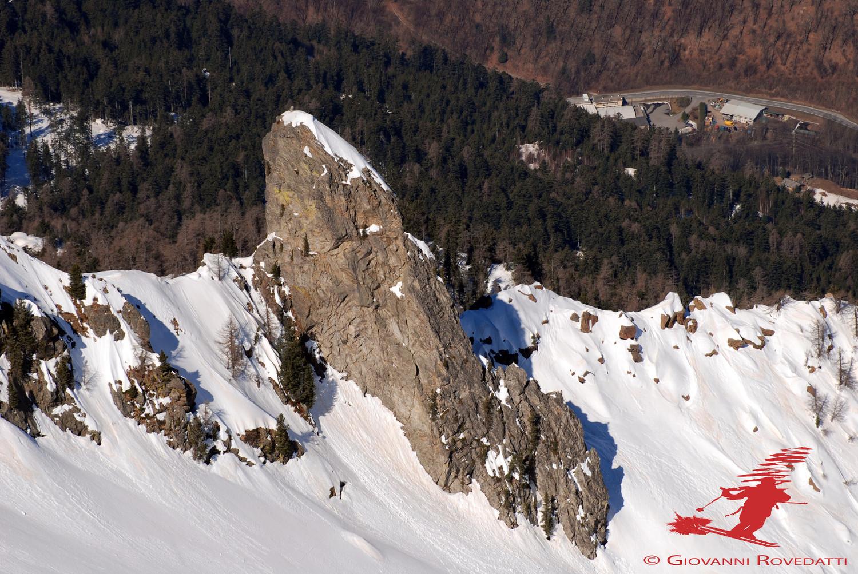 Il Denc dal Luf 2172m  versante S dal Pizzo dei Vanni 2774m