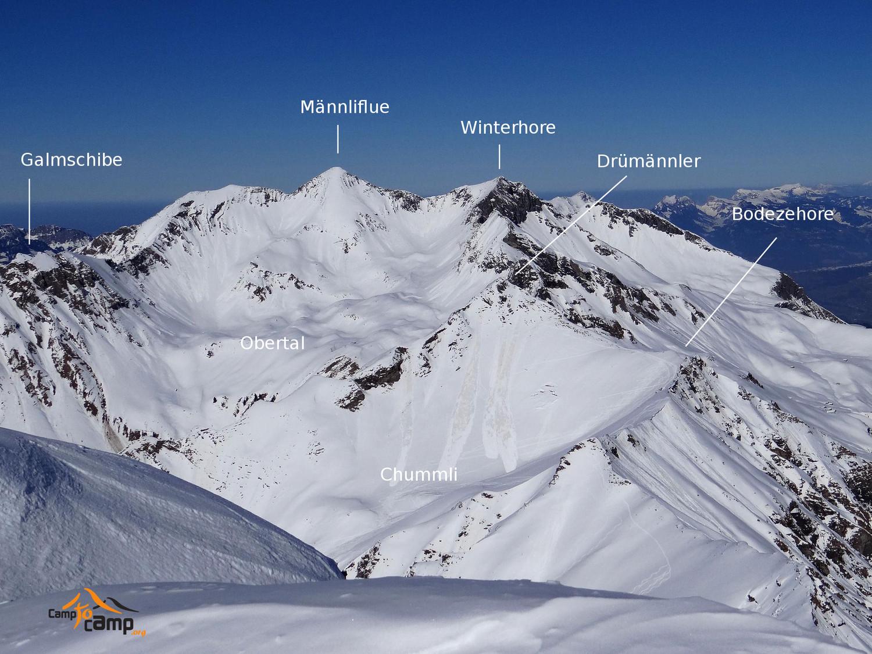 Panorama depuis le sommet du Landvogtehore