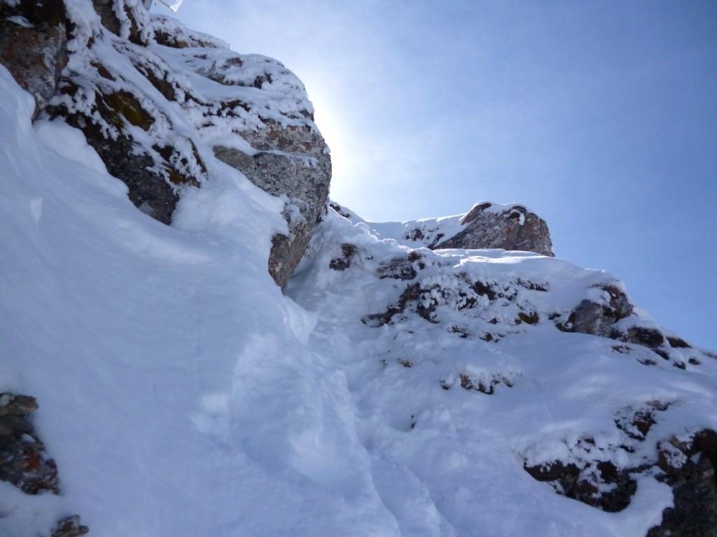 Passage mixte d'accès au sommet