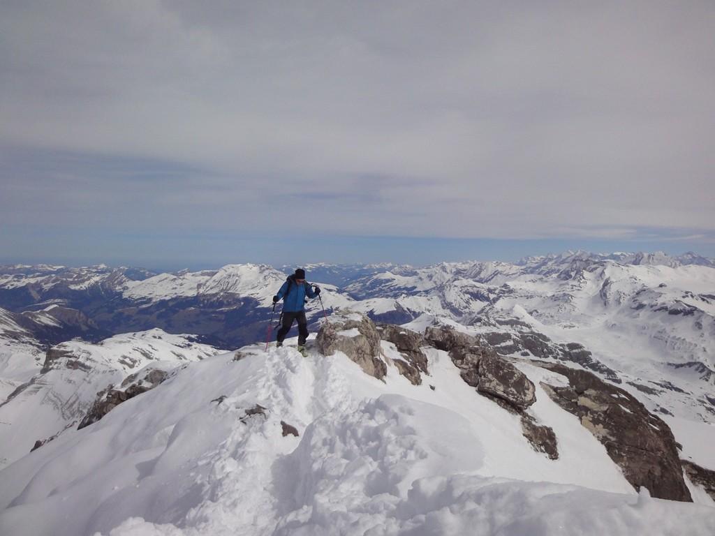 Arrivée au sommet du Widhorn