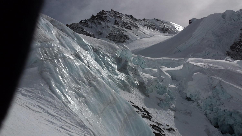 glacier bien tourmenté