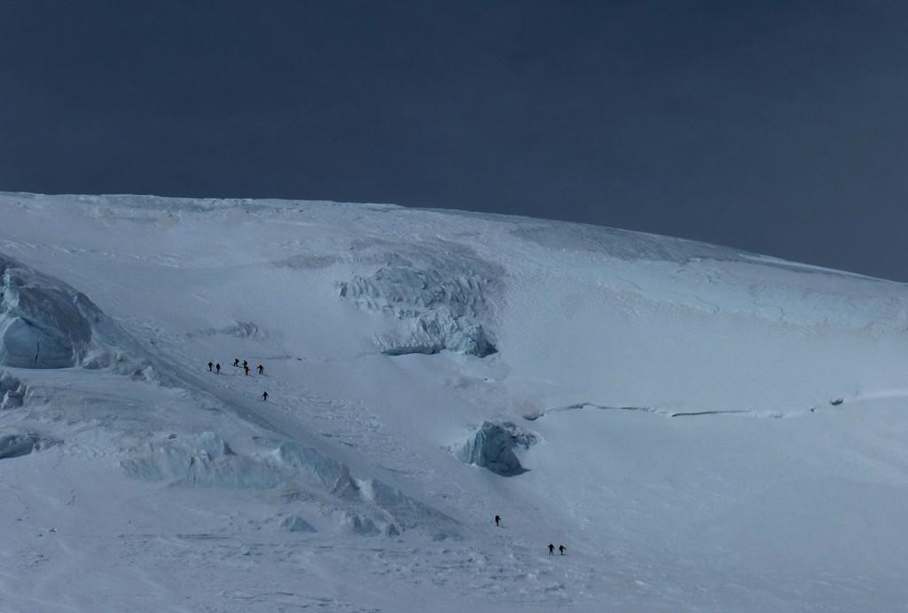 La parte alta del ghiacciaio
