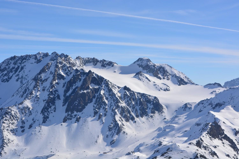 Vue d'une partie du Glacier de Chavière et du Col de Gébroulaz
