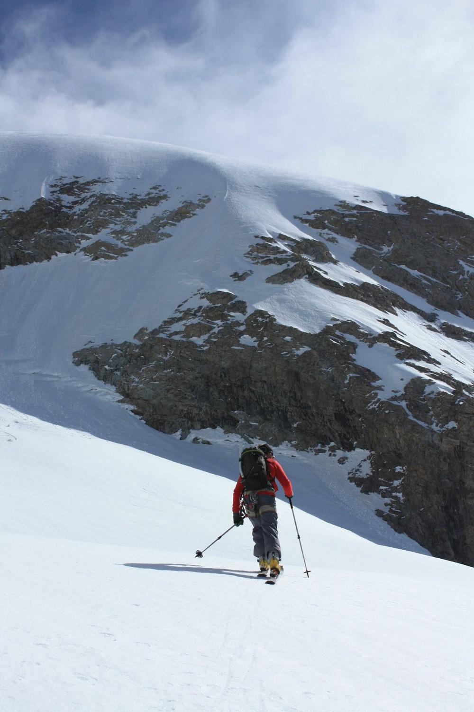 Montée du glacier de la Selle