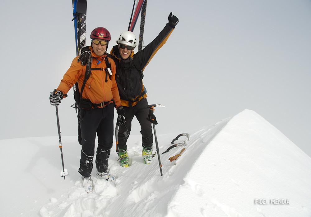 bisaurin, corredor NE con esquís