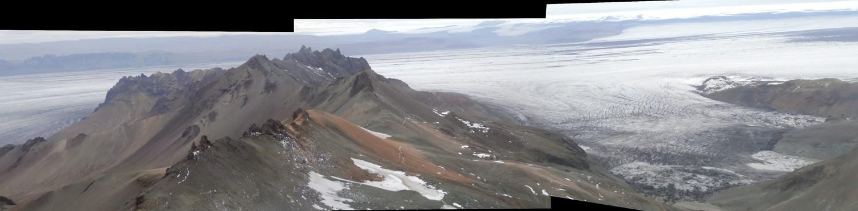 Une petite partie du glacier...