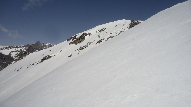 Punta Valgrande: risalendo l'ultimo tratto verso la cima