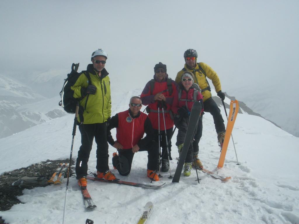 Mauro,Giorgio,Paola,Paolo,Sergio e Gianni in cima