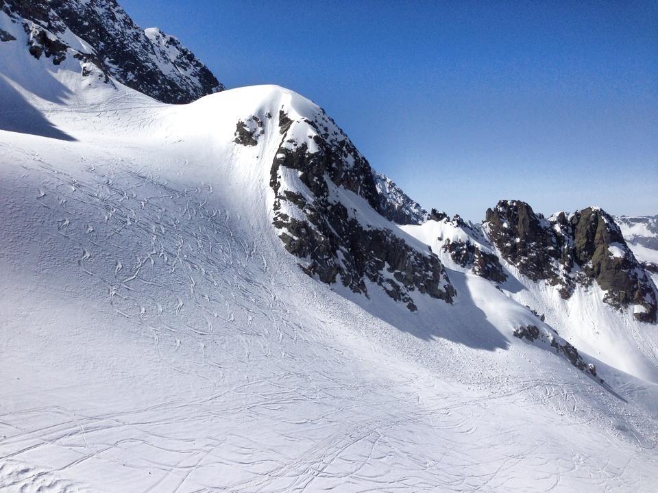 Les traces des skieurs