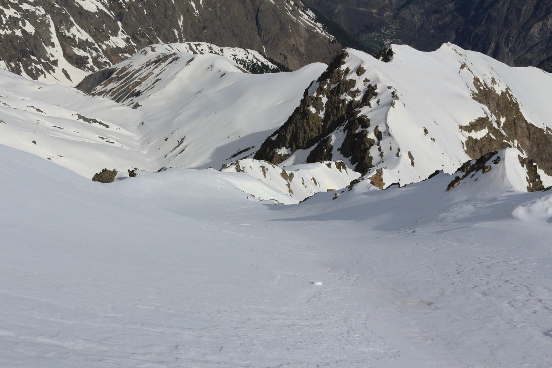 La facette NW du Petit Roux vue du sommet