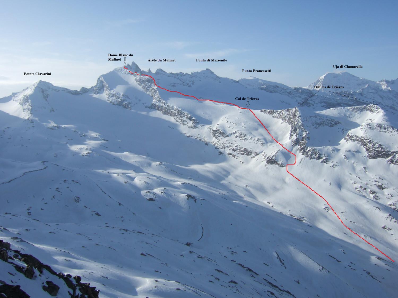 Panorama général de l'itinéraire