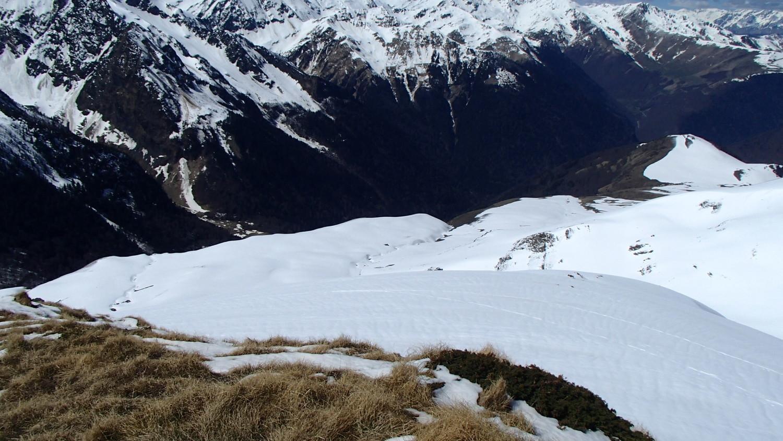 Vue de la descente du Pouylané