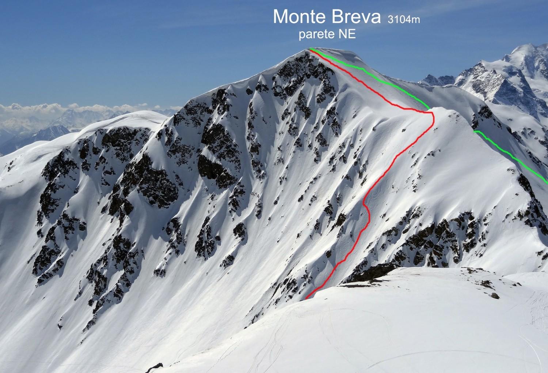 Linea verde: la salita - Linea rossa: la discesa