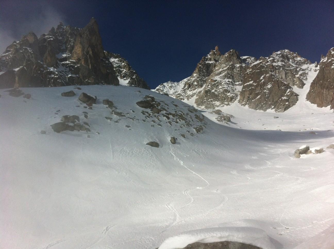 Glacier NE en montant vers le Portalet