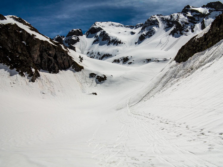 Vue sur le Lurien à la descente