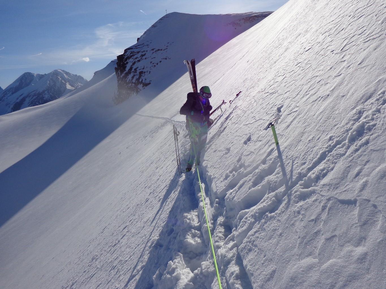 Traversée du Scheepass, essai a skis, pas pu !!!