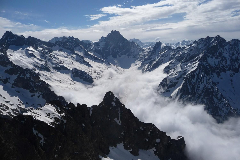 Vallée de la Bonne avec l'Olan au fond.