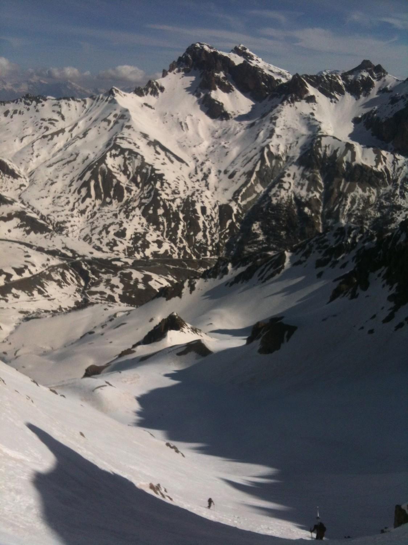 Le col du Lautaret depuis l'étroite à 2/3 parcours, avant la traversée.