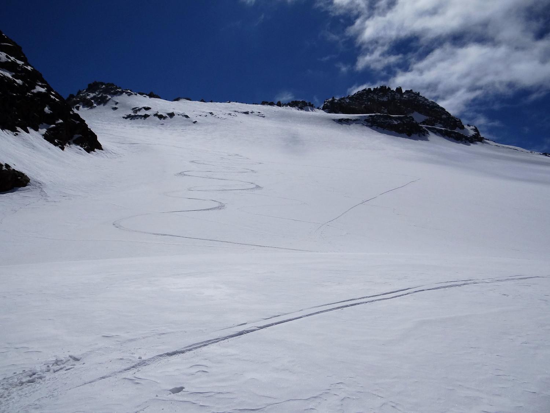 Sous la pointe Cissetta, la bonne neige est au rendez vous