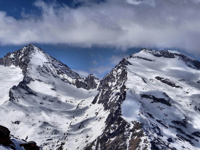 Herbetet - Grand Serra - les cols N et S  de l'Herbetet entre les 2 sommets