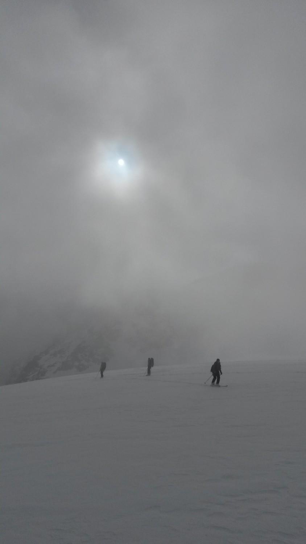 Brouillard sur le glacier du Mont Durand