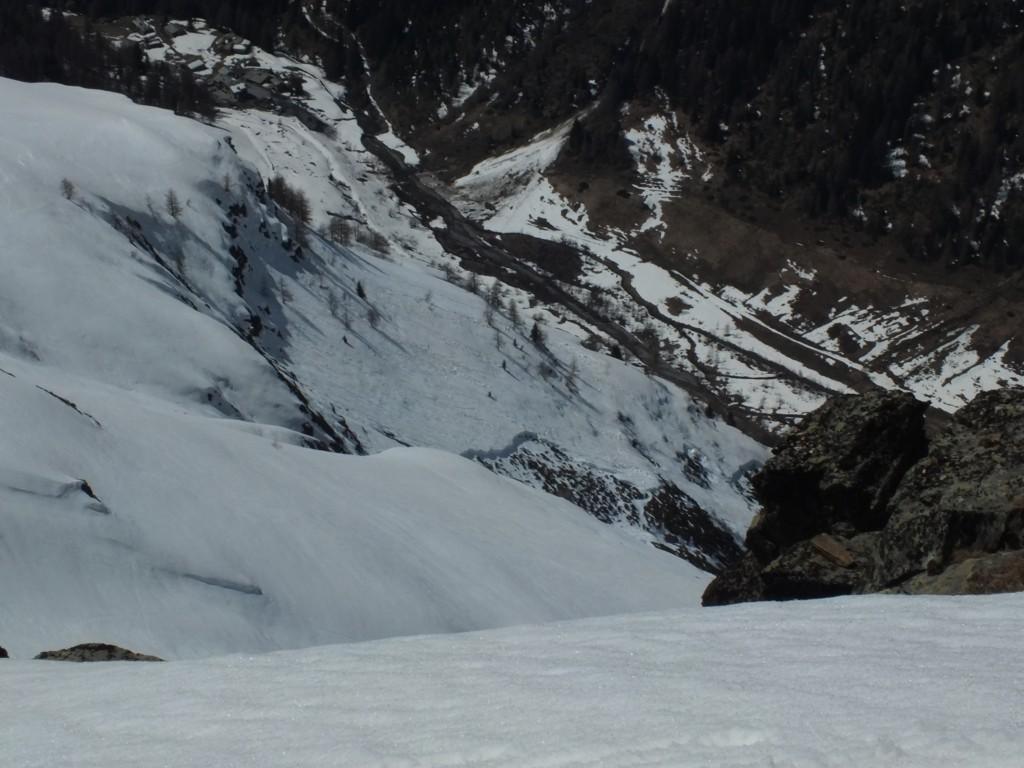 Tête des Fra, vers Planaval neige tentante mais bien  trop instable !!!