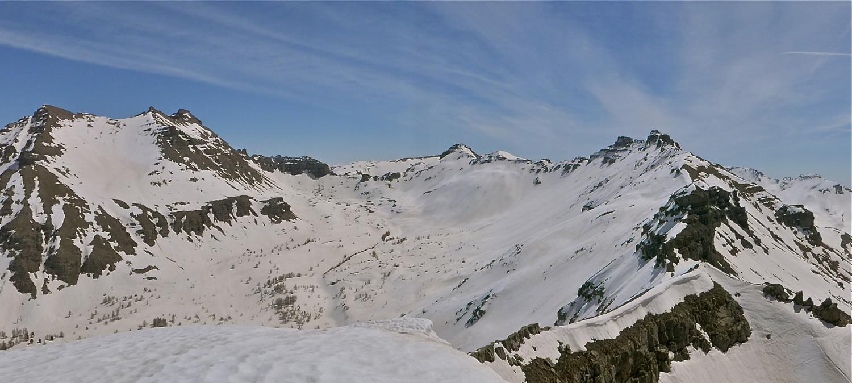 Du sommet Trou de l'Ane, Gialorgues et Génépi.
