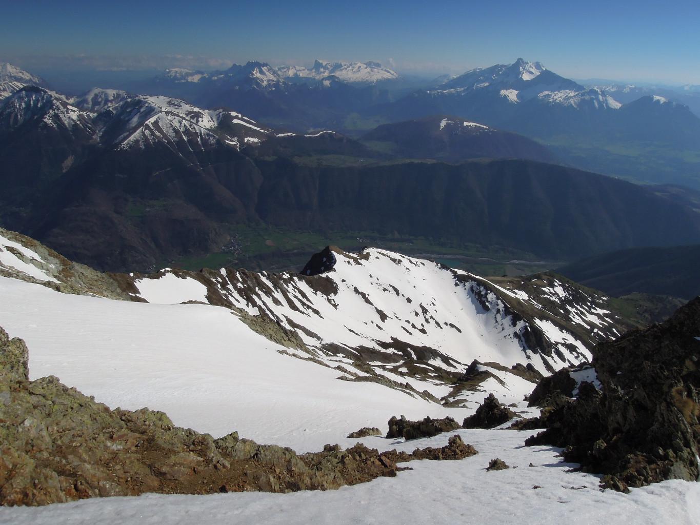 Vallée de Valbonnais, sur fond d'Obiou et Pic de Bure