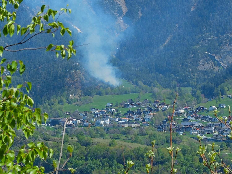 incendie à Ried-Brig